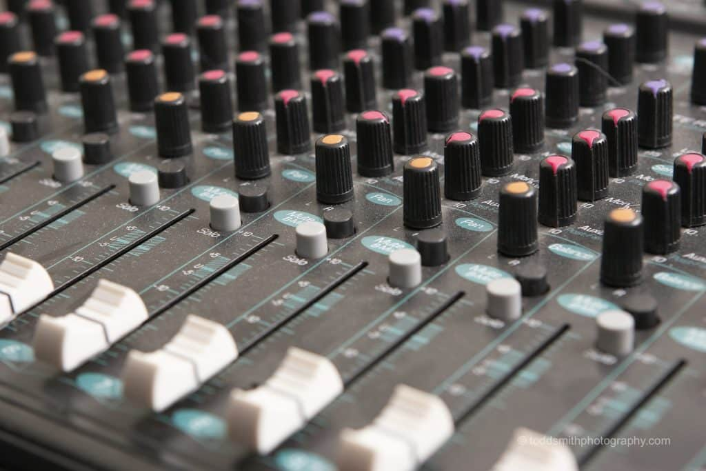 sound mixing board