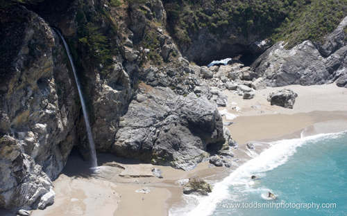 beach waterfall