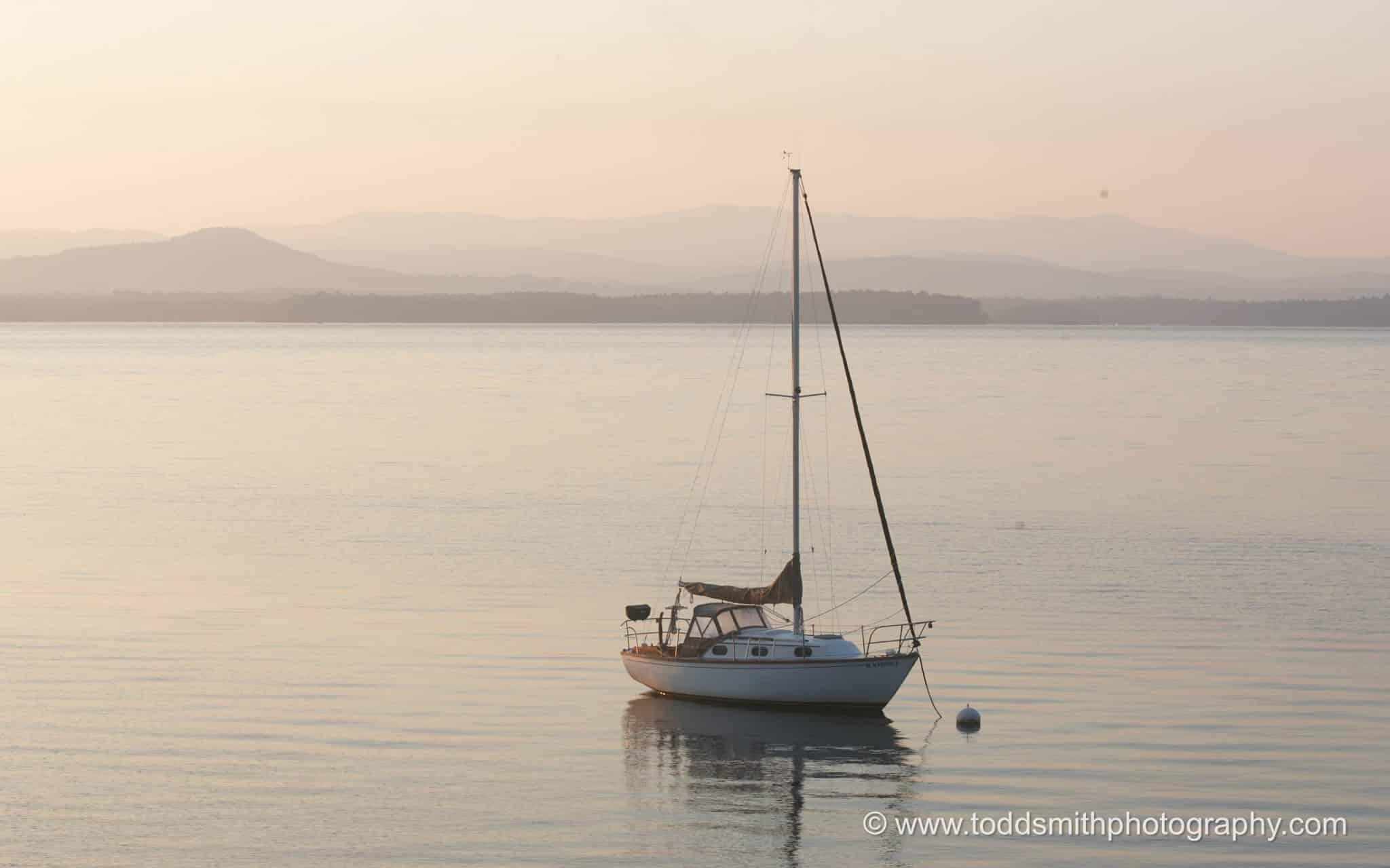 Sailboat on Lake Champlain