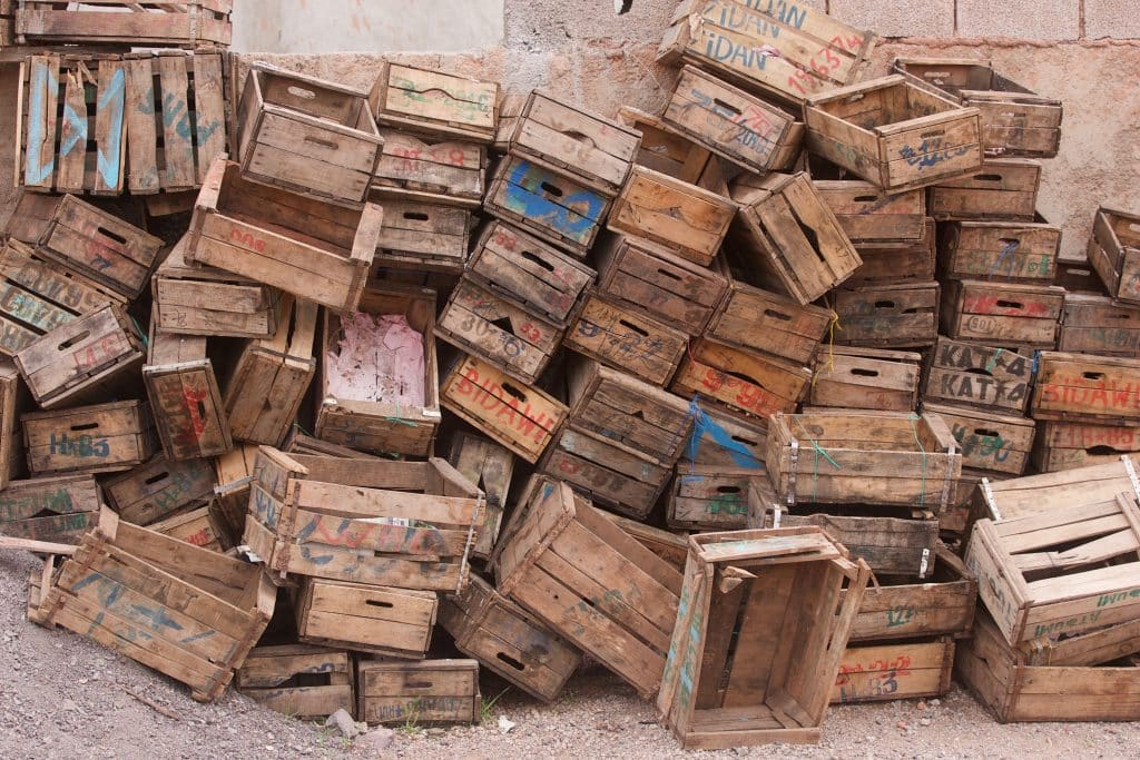 old fruit boxes